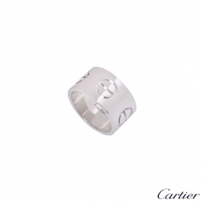Cartier White Gold XL Love Ring Size 54